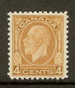 Canada, Scott #198; 4c King George V, MLH
