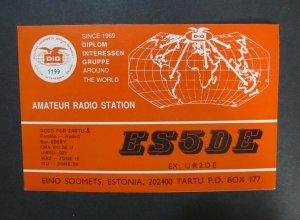 6129 Amateur Radio QSL Card Tartu Estonia