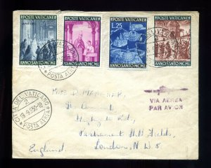 1950 Vatican City Airmail Cover with Scott # 135 - 138 #146946