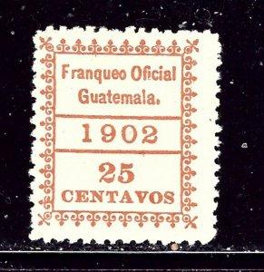 Guatemala O5 MH 1902 issue