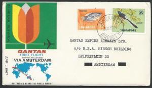 SINGAPORE 1967 Qantas first flight London, via Amsterdam, Netherlands......52288