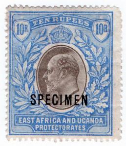 (I.B) KUT Postal : British East Africa 10R (Specimen)