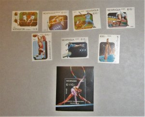 Nicaragua - 686-53, MNH Set and S/S. 10th Pan Am Games. SCV - $8.50