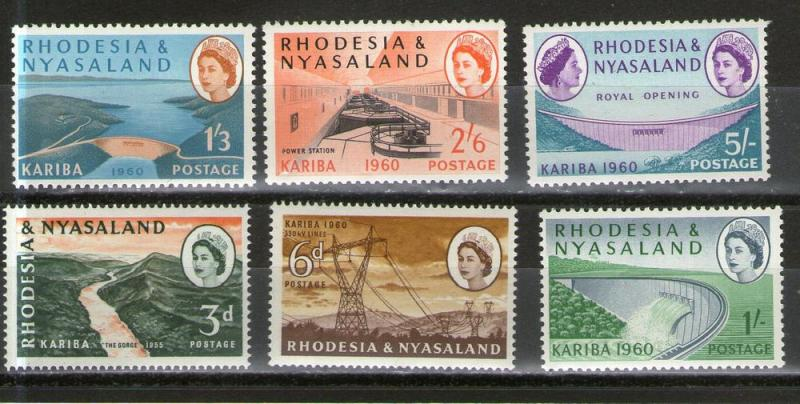 Rhodesia and Nyasaland 172-177 MNH