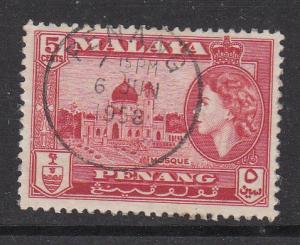 Malaya Penang 1957 Sc 48 5c Used