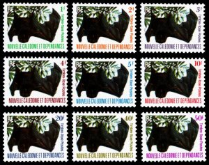 New Caledonia 1983 BATS Scott #J42-J50 Mint Never Hinged