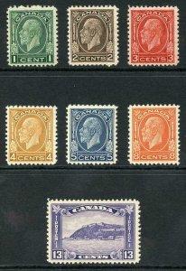 Canada SG319/25 1932 Set of 7 Fine M/M (M/H) SUPERB Fresh Colours