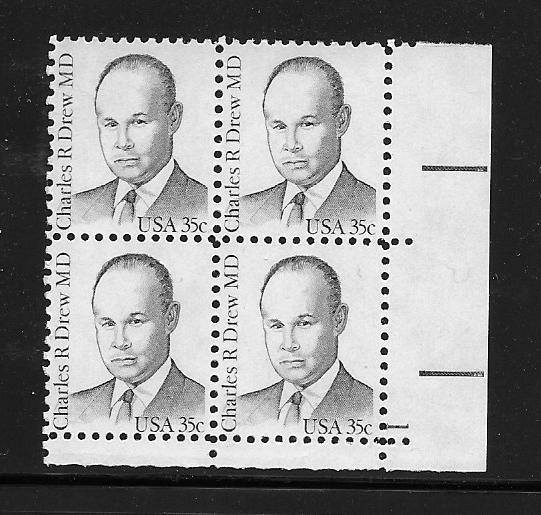 Black History, Charles R.Drew MD Sc.1865 Mint never hinged VF plate block