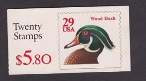 BK175 Wood Duck Booklet -  2485a plate #K11111