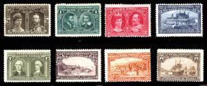 Canada #96-#103 1/2c-20c 1908 Quebec Tercentenary Issue Mint Set 8 items