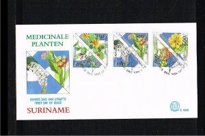1995 - Rep. Surinam FDC E181B - Flora - Flowers - Medicinal Flowers [LN031]