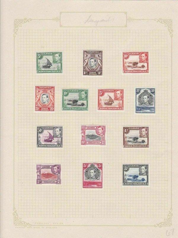 kenya uganda and tanganyika mounted mint  1938 stamps  ref r8349