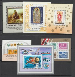 Hungary Sc 2432/3101 MNH. 1976-87 issues, 10 different souvenir sheets, VF