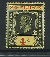 Fiji  GV  SG 131a  MUH on lemon