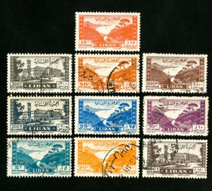Lebanon Stamps # C119-28 VF Used