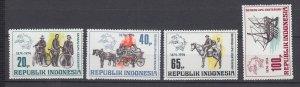 J29345, 1974 indonesia set mnh #922-5 designs