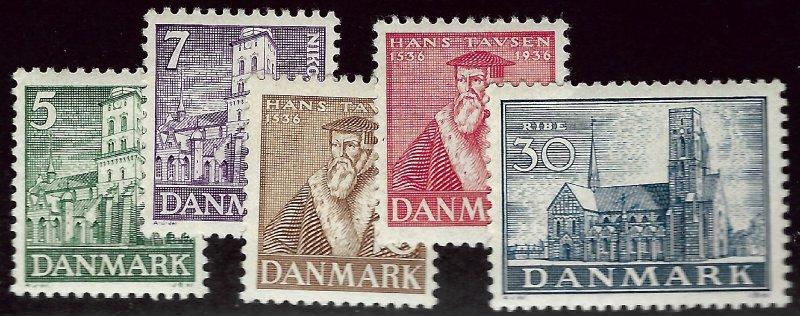 Denmark SC#252-256 Mint VF...Worthy of a close look!
