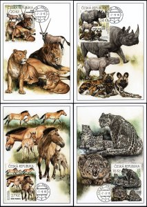 Czech Republic. 2016. Zoological Gardens (I) (Mint) Set of 4 Maxi Cards