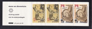Netherlands  #B638a-B640a  MNH  1988 Cultural welfare booklet man and the zoo