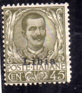 LIBIA 1917 - 1918 SOPRASTAMPATO D'ITALIA ITALY OVERPRINTED CENT. 45c MLH