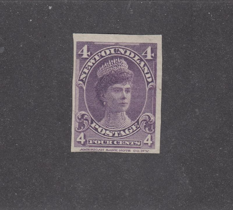 NEWFOUNDLAND # 84a VF-IMPERF VERY LIGHT USED 4cts DUCHESS OF YORK CAT VALUE $500