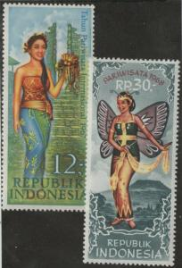 INDONESIA MLH Scott # 726, 739 Tourism (2 Stamps)