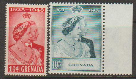 Grenada  George VI SG 166 - SG 167  Unmounted mint set