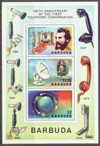 Barbuda MNH S/S 262a Centenary Of Telephone 1976