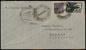 Brazil 1936 Condor Lufthansa Germany Flown Cover  Bremen 84430
