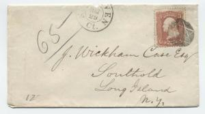 1860s New Haven CT #65 star of david fancy cancel cover [y3321]