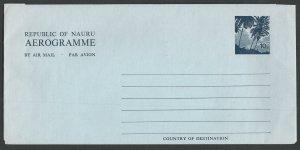 Nauru  # A2(*)   Aerogramme  - 10c  1971  (1)   Unused