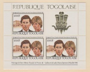 Togo Scott #1105 Stamps - Mint NH Souvenir Sheet