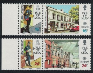 Isle of Man Europa Post Office Buildings 4v Pairs with margins SG#438-441