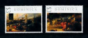 [100033] Dominica 2009 Art Painting Rubens Tournament Castle Souvenir Sheet MNH