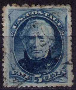 US Sc 179  Used 5c Blue Very Fine/Extra Fine