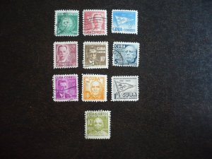 Stamps - Cuba - Scott# 514-518,C92-C95,E19 - Used Set of 10 Stamps