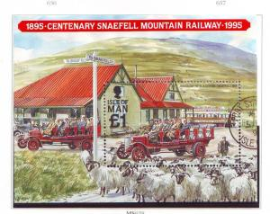 Isle of Man Sc 627 1995 100th Anniversary Snaeful Mtn Rwy