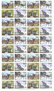 Tajikistan WWF Bharal Full Sheet of 10 sets 40 stamps SG#282-285 MI#392-395