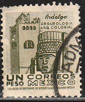 MEXICO 882a $1Peso 1950 Definitive 2nd Printing wmk 300 USED. F-VF. (1410)
