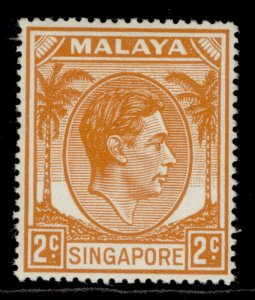 SINGAPORE GVI SG17, 2c orange, LH MINT.