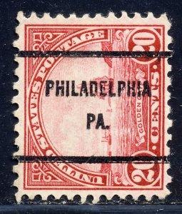 Philadelphia PA, 698-61 Bureau Precancel, 20¢ Golden Gate