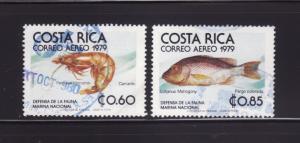 Costa Rica C742-C743 U Marine Life, Shrimp and Fish (C)
