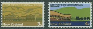 New Zealand SC#511-2 Westport Centenial 3c, 4c MH