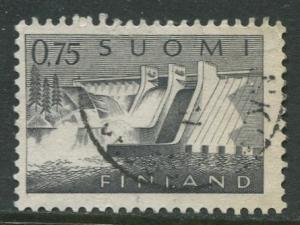Finland - Scott 409 - Power Station -1963- Used - Single 75p Stamp