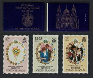 BVI Charles and Diana Royal Wedding 3v Booklet SG#SB1