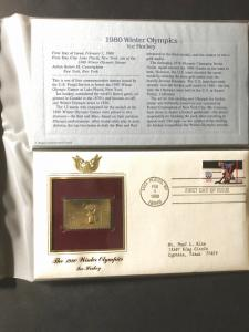 US #1798 and Gold-Plated Stamp