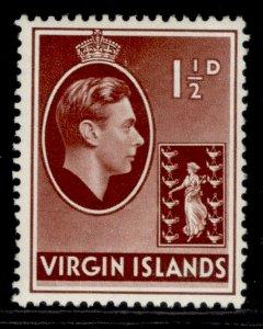 BRITISH VIRGIN ISLANDS GVI SG112a, 1½d red-brown, M MINT.