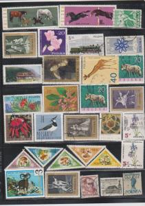 LOT OF DIFFERENT STAMPS OF POLAND USED (31) LOT#129