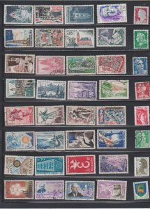 LOT OF DIFFERENT STAMPS OF FRANCE  USED (40) LOT#374