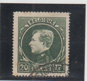 Belgium  Scott#  213  Used  (1929 King Albert)